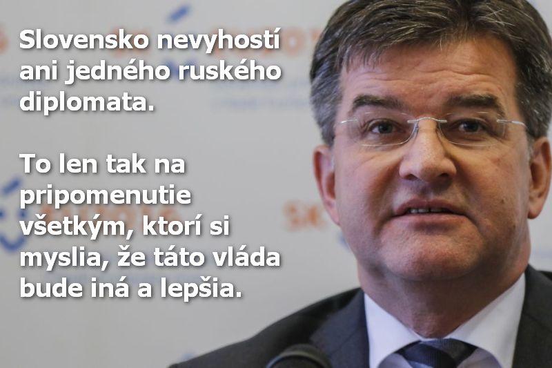 Slovensko nevyhostí ani jedného ruského diplomata. To len tak na pripomenutie všetkým, ktorí si myslia, že táto vláda bude iná a lepšia.