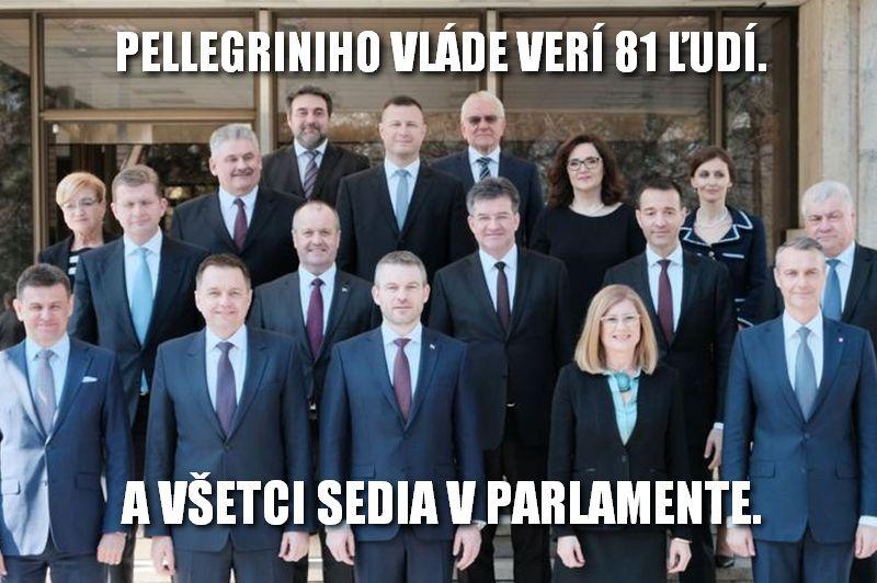 Pellegriniho vláde verí 81 ľudí. A všetci sedia v parlamente.