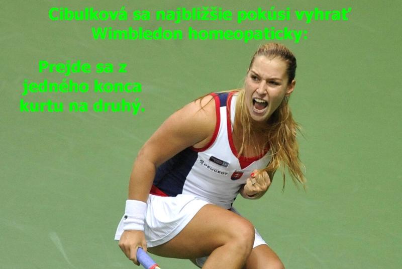 Cibulková sa najbližšie pokúsi vyhrať Wimbledon homeopaticky: prejde sa z jedného konca kurtu na druhý.