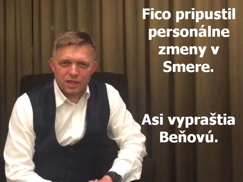 Fico pripustil personálne zmeny v Smere. Asi vypraštia Beňovú.
