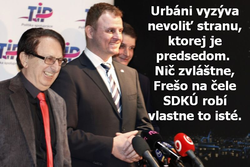 Urbáni vyzýva nevoliť stranu, ktorej je predsedom. Nič zvláštne, Frešo na čele SDKÚ robí vlastne to isté.